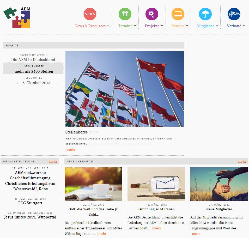 Vorschau AEM Homepage